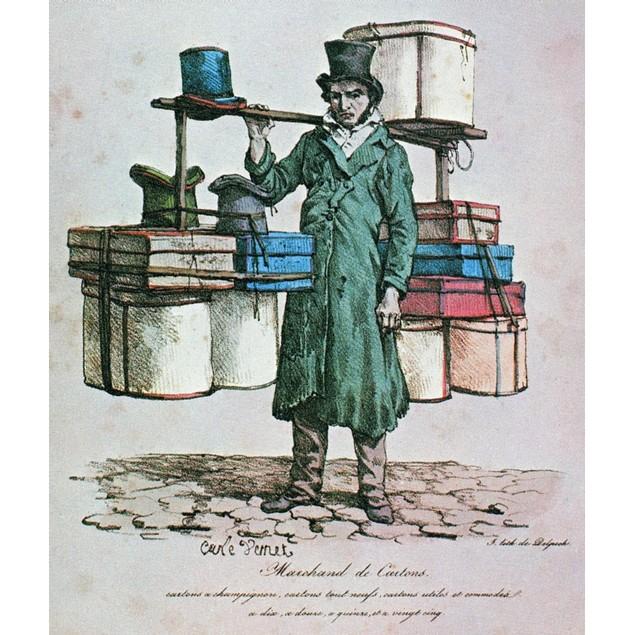 Paris: Box Peddler, C1822. /Nlithograph, C1822, From Carle Vernet'S 'Cris D
