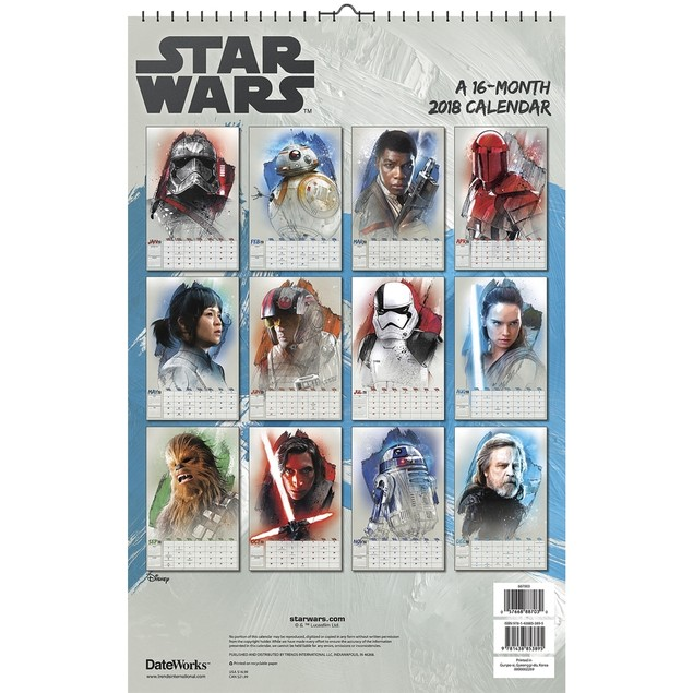 Star Wars Saga 2018 Collector's Edition Calendar