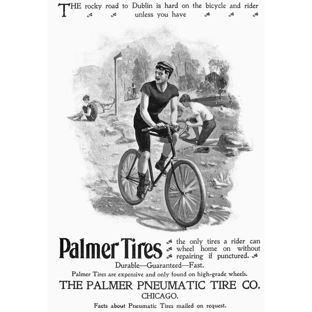 Tire Advertisement, 1896. /Nadvertisement For The Palmer Pneumatic Tire Com