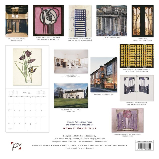 Charles Rennie Mackintosh Wall Calendar, Scotland by Calendars