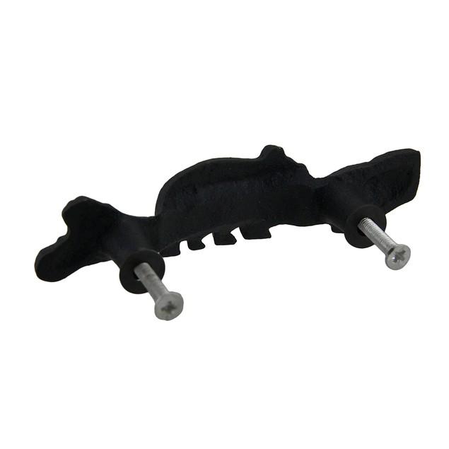 6 Piece Matte Black Forest Bear Cast Iron Drawer Drawer Pulls