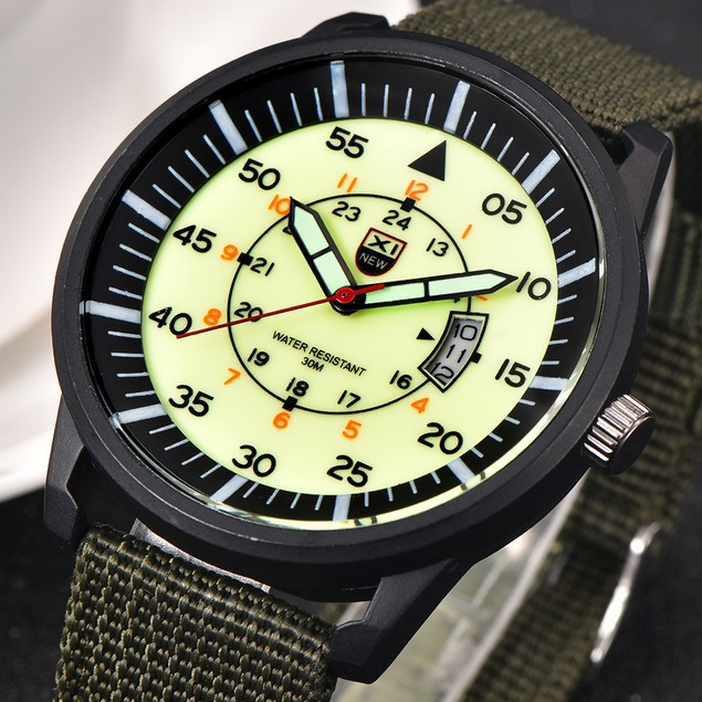 Military MEN Quartz Army Watch Black Dial Date Luxury Sport Wrist Watch 1