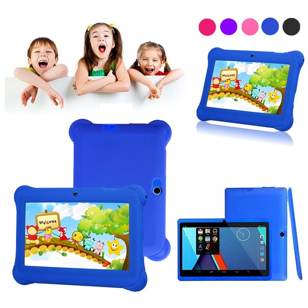 Kids Tablet PC 7inch Android 4.4 Case Dual Camera 1.2Ghz Wi-Fi Bonus Items