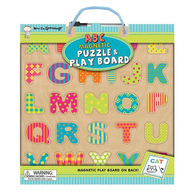 ABC Magnetic 25 Piece Puzzle and Play Board