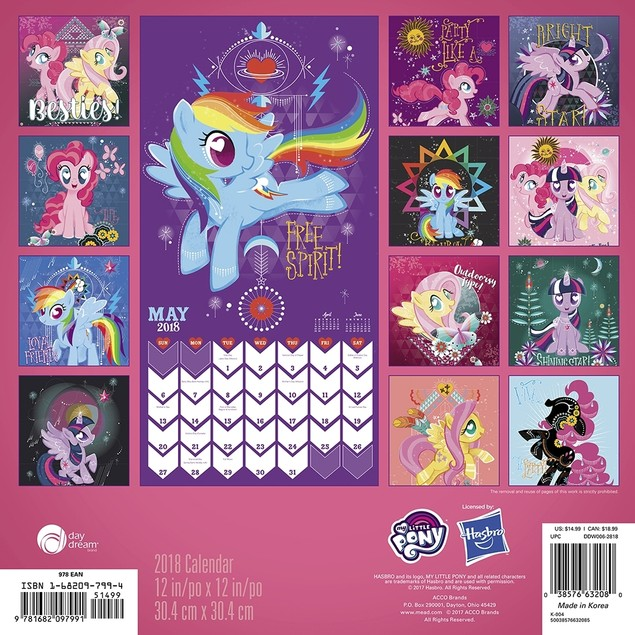 My Little Pony Wall Calendar, More Toys by Calendars