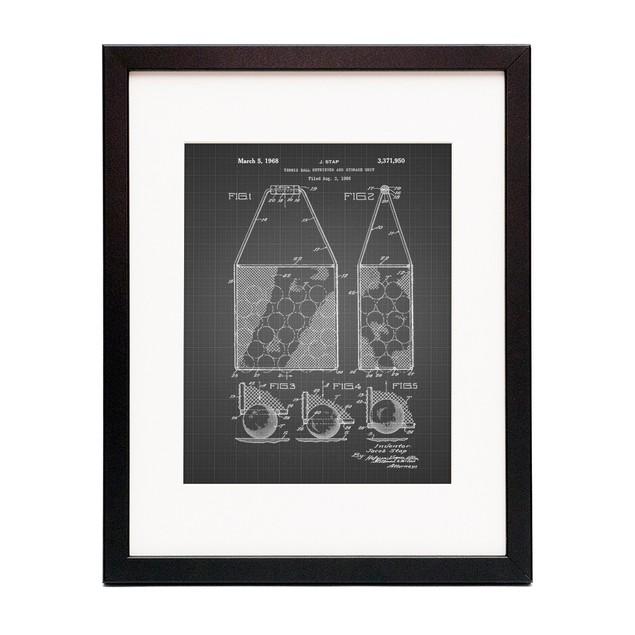 Tennis Hopper Patent Poster