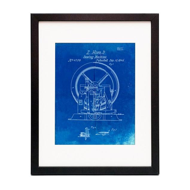 Sewing Machine Patent Poster