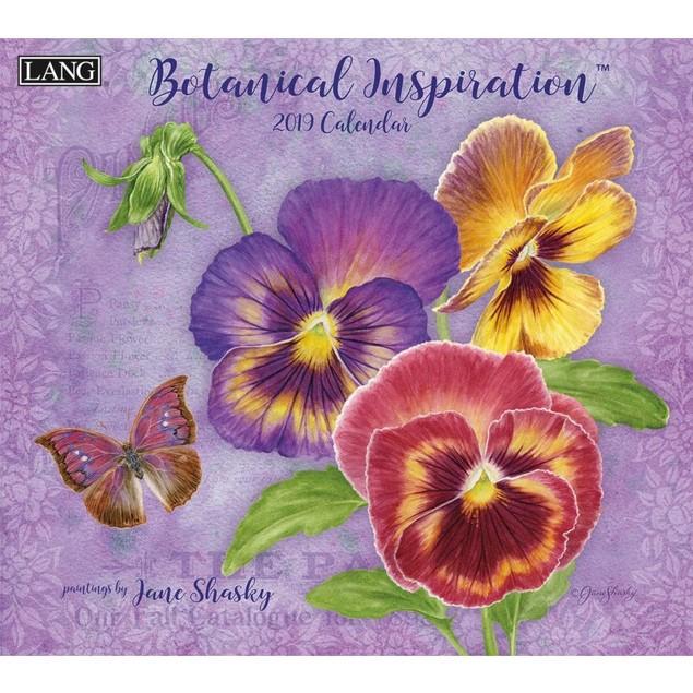 Botanical Inspiration Wall Calendar, Flower Art by Calendars