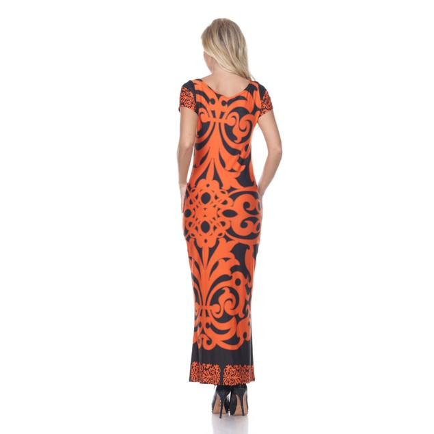 Raven Maxi Dress - Red Black