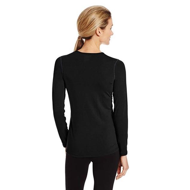 Hot Chillys Women's MTF 4000 Scoop Top, Black, Sz  X-Small