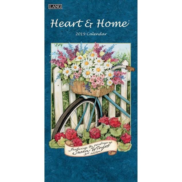 Heart & Home Slim Wall Calendar, Lang Folk Art by Calendars