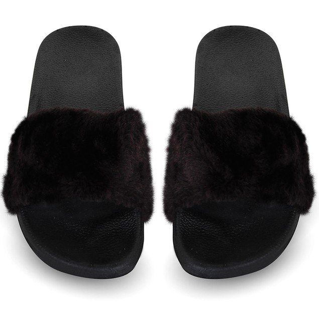 Women's Chatties Faux Fur Slip on Sandals