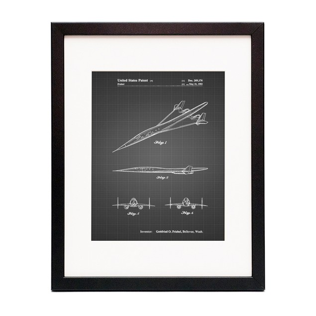 Supersonic Transport Concept Patent Poster