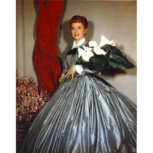 Deborah Kerr in Ballon Skirt with Flower Poster