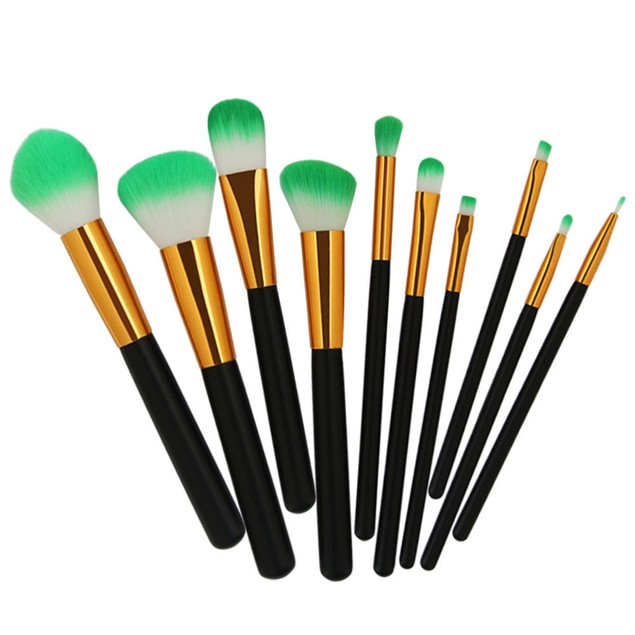 10PCS/1Set Cosmetic Makeup Brush Brushes Set Foundation Powder Eyeshadow
