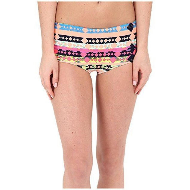 Women's TYR Boca Chica Cheeky Shorts, Coral SIZE MEDIUM (8)