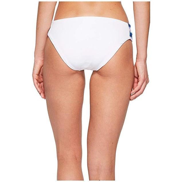 Becca by Rebecca Virtue Women's Tab Side Hipster Bikini Bottom White M