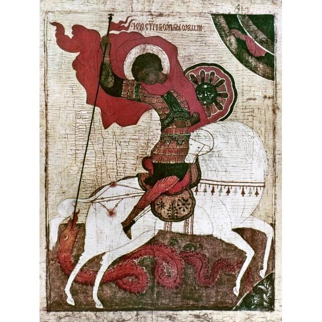 Saint George. /Nnovgorod School, Russia. Early 15Th Century. Poster