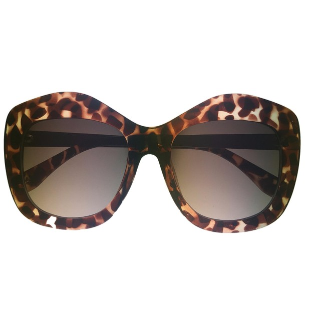 Lucky Brand Womens Tortoise Fashion Cateye Plastic Sunglass, D915