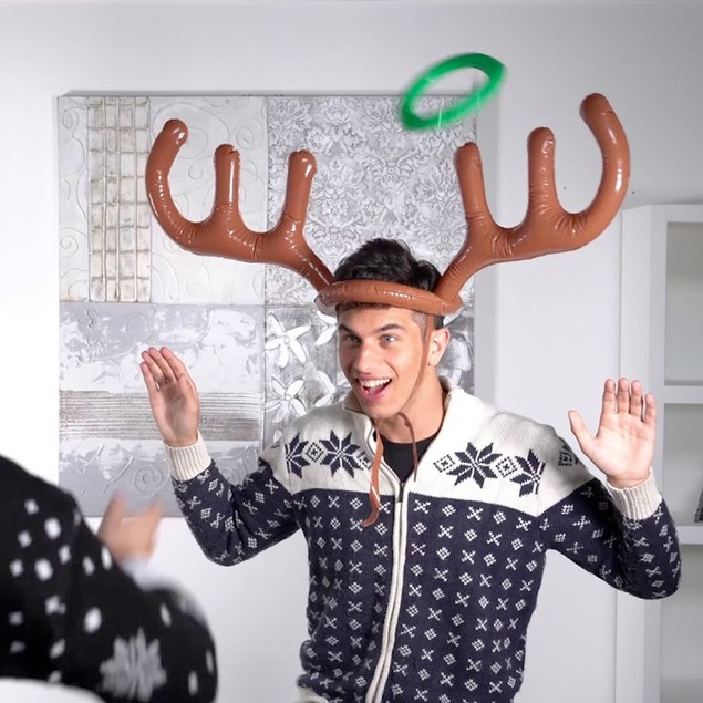 Christmas Inflatable Reindeer Toss Game