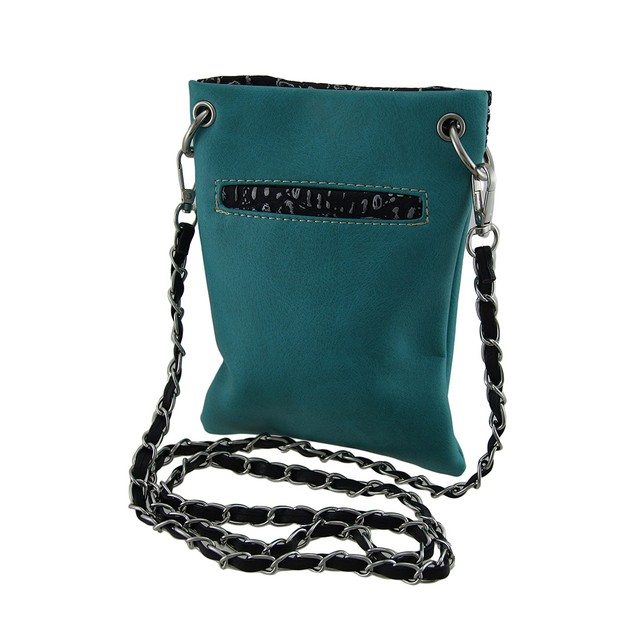 Embroidered Sugar Cat Rhinestone Turquoise Cross Womens Cross Body Bags