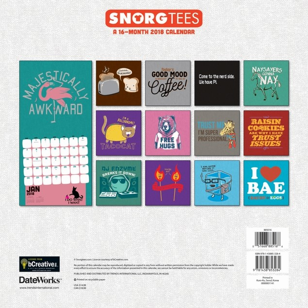 Snorg Tees Wall Calendar, Jokes & Insult by Trends International