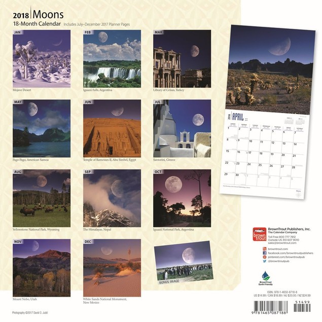 Moons Wall Calendar, Moon by BrownTrout