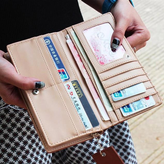 Fashion Lady Women Long Purse Clutch Wallet Zip Bag Card Holder