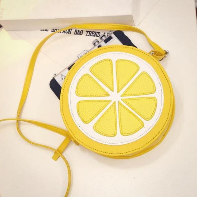 Female Fashion Personality Round Lemon Shoulder Bag
