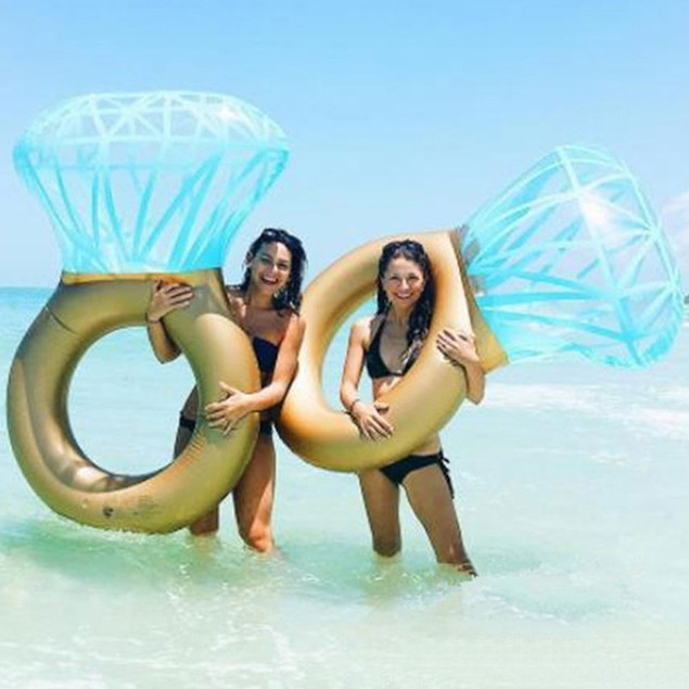 Giant Diamond Ring Inflatable Floatie