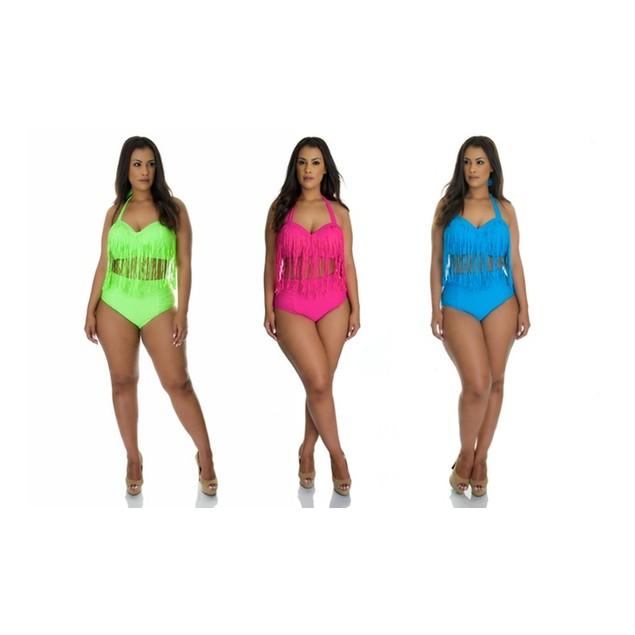 Plus Size Fringe Bikini