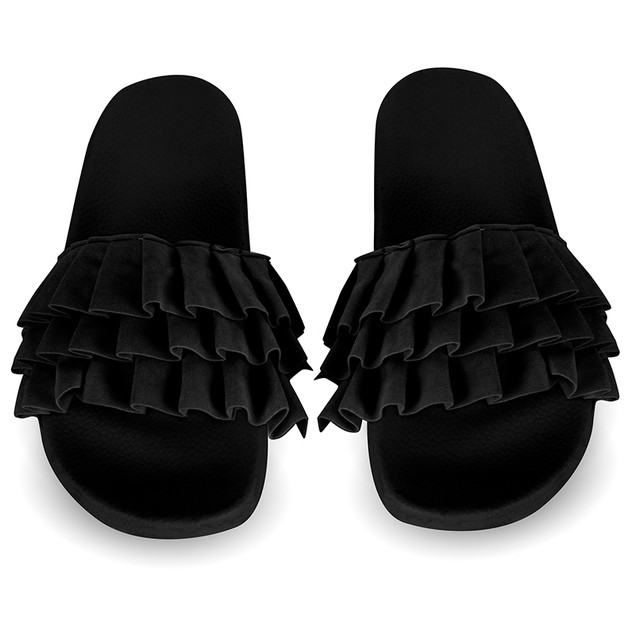 Women's Chatties Ruffle Slip on Sandals