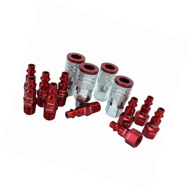 """ColorFit by Milton Coupler & Plug Kit (M-Style, Red) 1/4"""" NPT,14-Pc"""