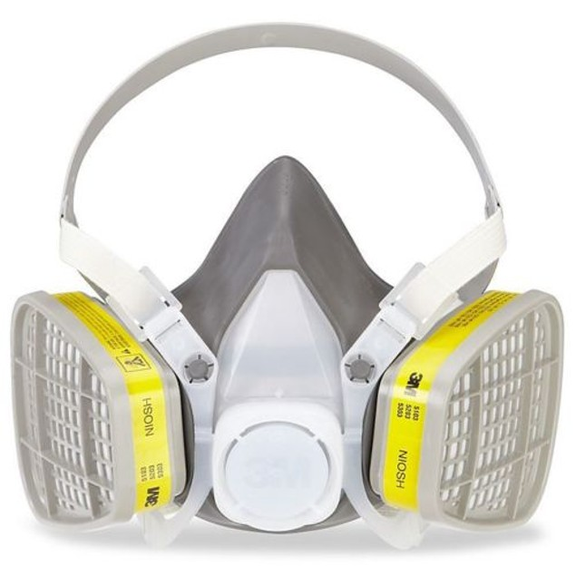3M Half Facepiece Disposable Respirator Organic Vapor/Acid Gas