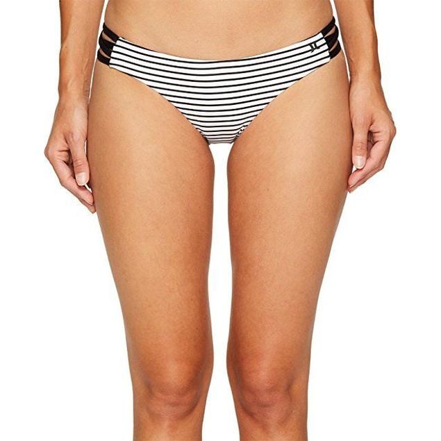 Hurley Women's Quick Dry Stripe Surf Bottoms White Swimsuit Bottoms SZ