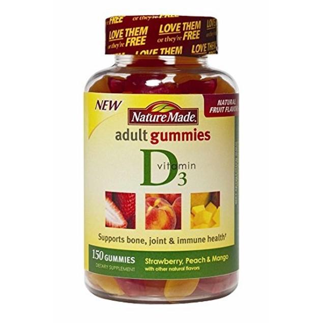 Nature Made Vitamin D3 Adult Gummies Strawberry. Peach & Mango Gummies