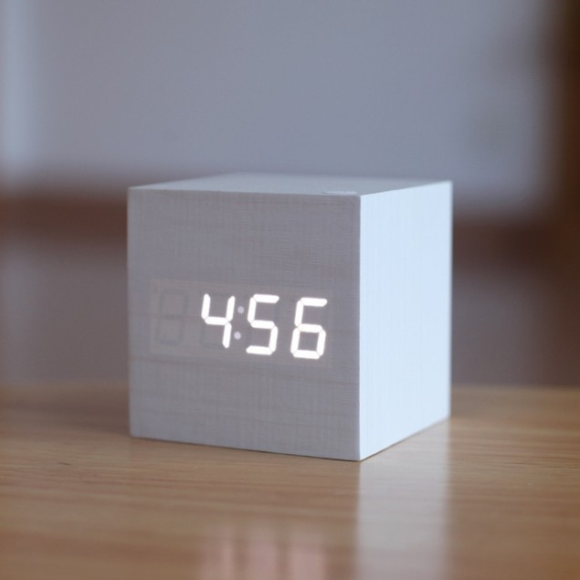 Wood Clock (Assorted Colors)