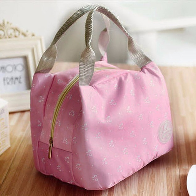 Portable Lunch Bag Tote Picnic Insulated Cooler Zipper Organizer Lunch Box