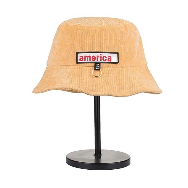 Women Men Solid Color Cotton Tabby Short Eaves Basin Cap Fisherman Hat S