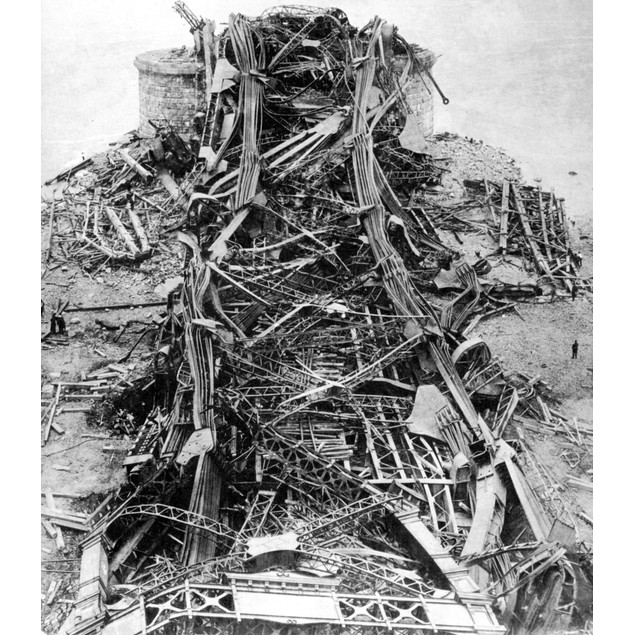 Quebec Bridge, 1907. /Nwreckage On The South Bank Of The St. Lawrence River
