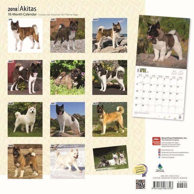 Akitas Wall Calendar, Akita by Calendars