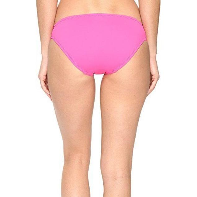 Trina Turk Women's Gypsy Solids Tab Side Hipster Bikini Bottom Pink SZ