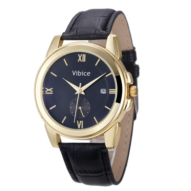 Men's Quartz Analog Sport Wrist Stainless Steel Casual Leather Watch