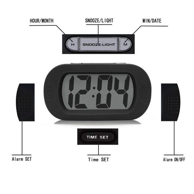 Bedside Alarm Clock Battery Operated Shockproof Ideal Gift for Kids