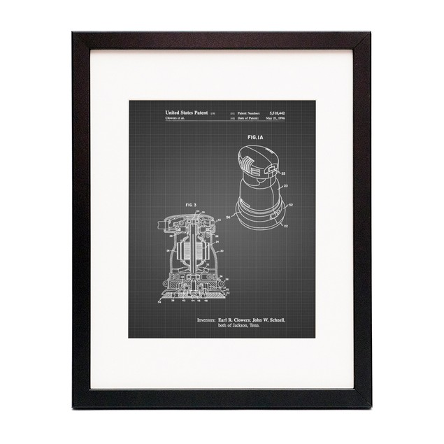 Palm Grip Sander Patent Poster
