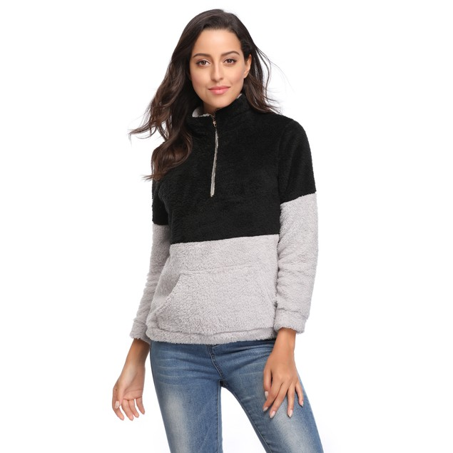 Color Block Pullover with Collar