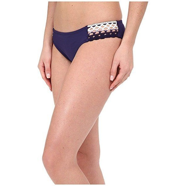 Becca by Rebecca Virtue Women's Tab Side Hipster Bikini Bottom Ink L