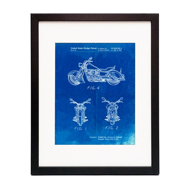 Motorcycle Patent Poster