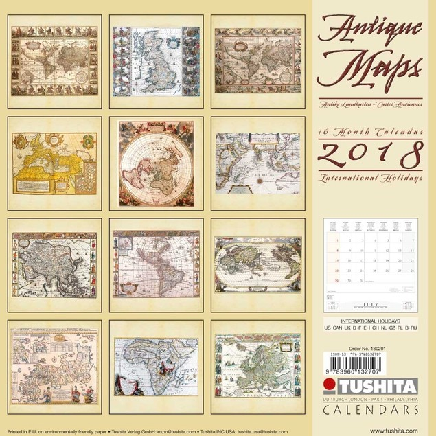 Antique Maps Wall Calendar, Maps by Calendars