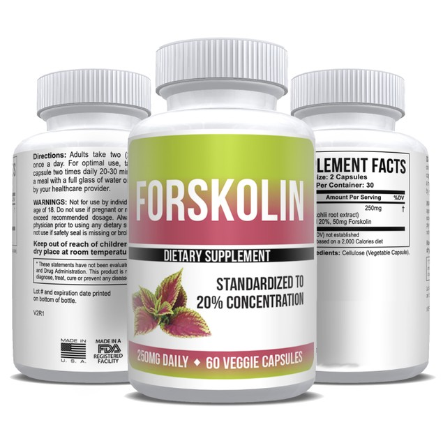 Pure Forskolin Extract 20% Dr Recommended Weight Loss 3 oz - 1 Month Supply